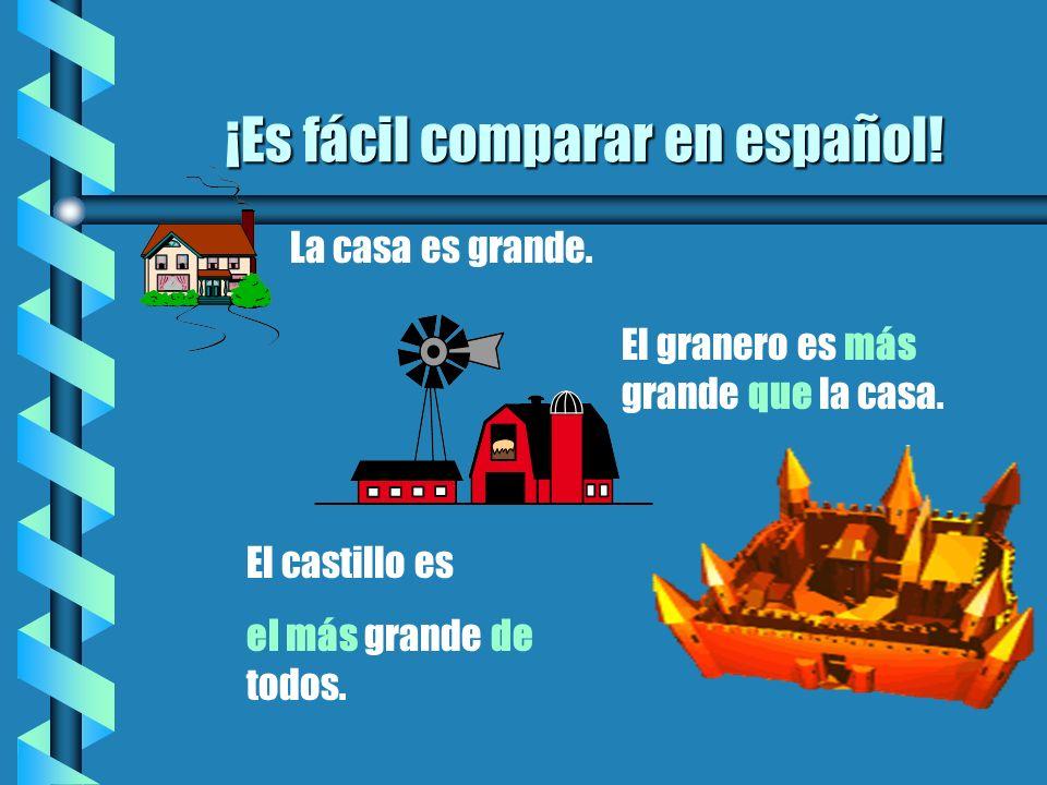 ¡Es fácil comparar en español!