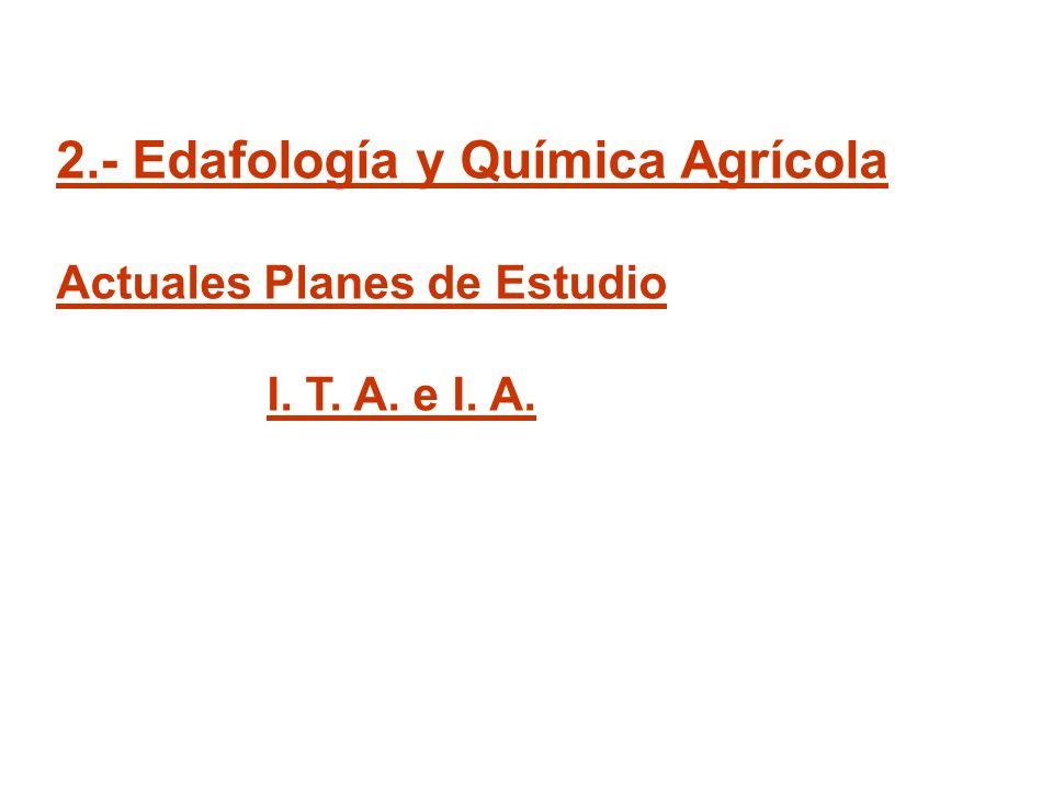2.- Edafología y Química Agrícola