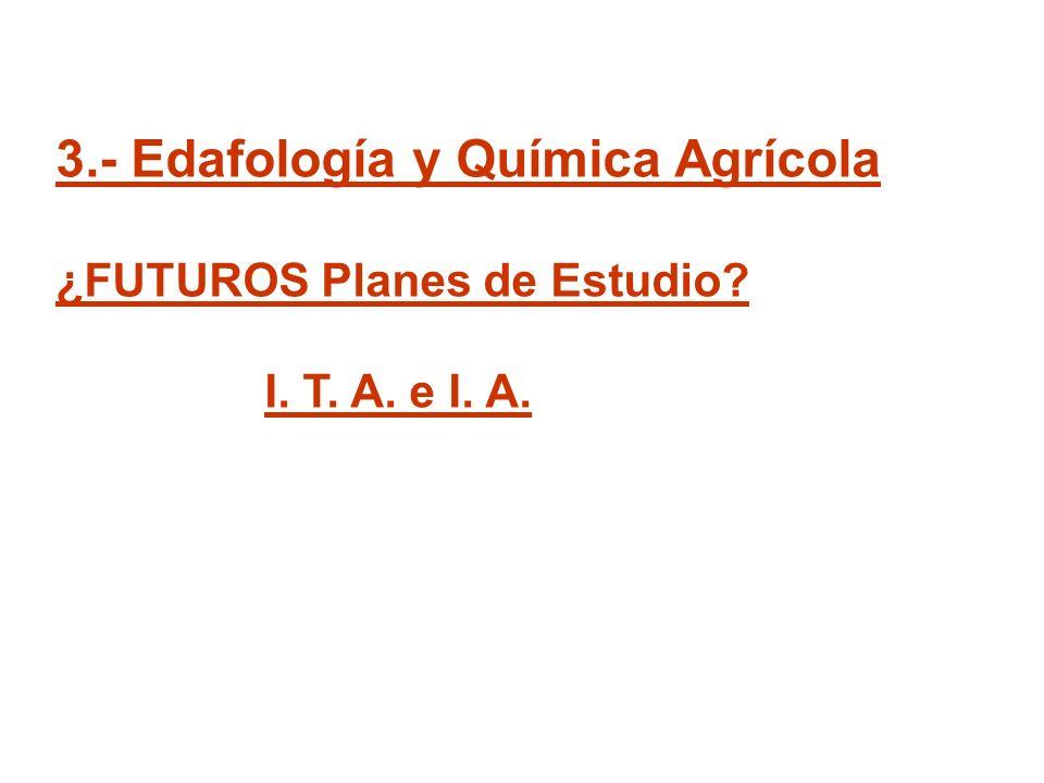 3.- Edafología y Química Agrícola