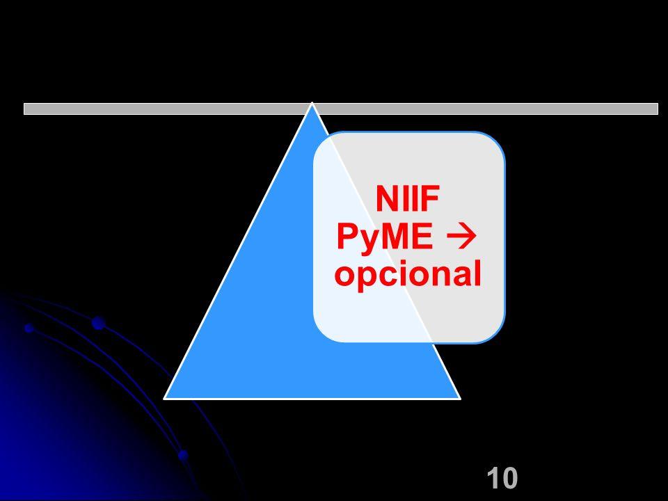 NIIF PyME  opcional
