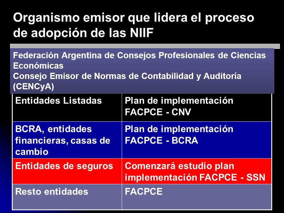Organismo emisor que lidera el proceso de adopción de las NIIF