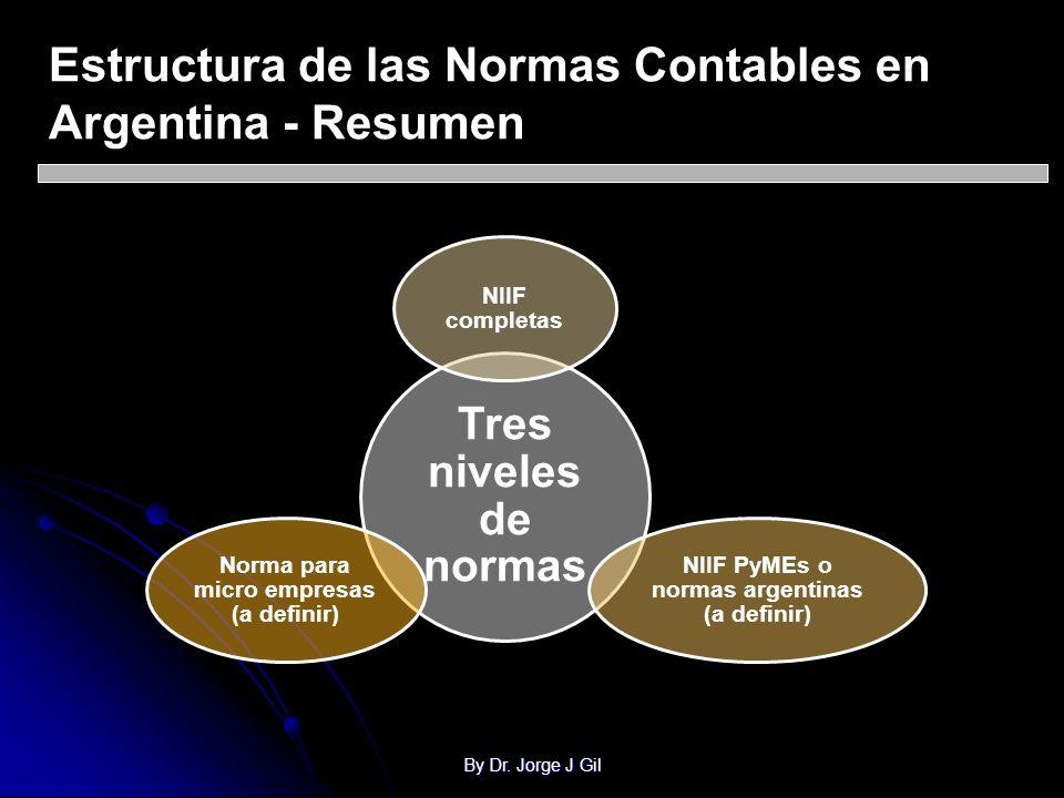 Estructura de las Normas Contables en Argentina - Resumen