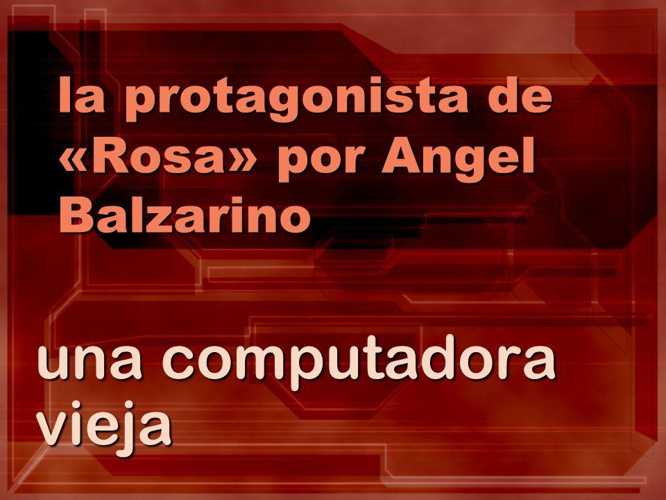 la protagonista de «Rosa» por Angel Balzarino