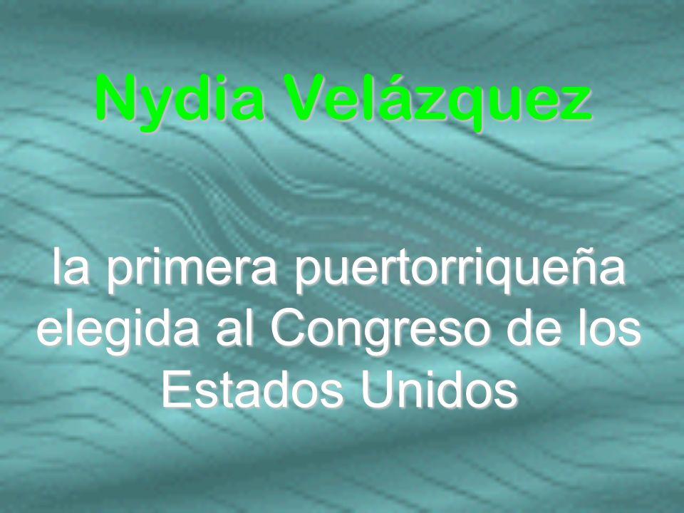 la primera puertorriqueña elegida al Congreso de los Estados Unidos