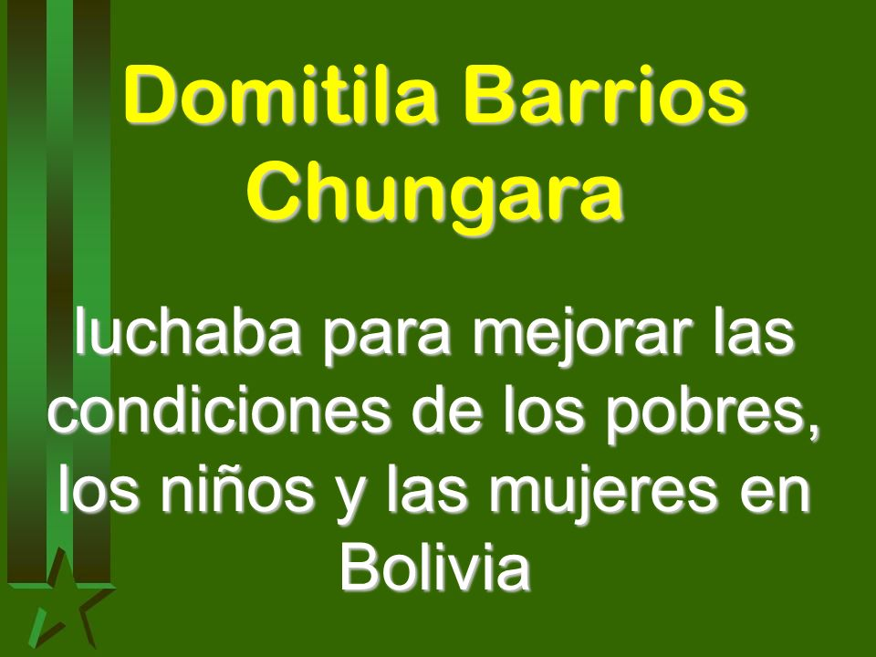 Domitila Barrios Chungara
