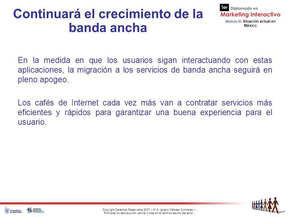 Continuará el crecimiento de la banda ancha