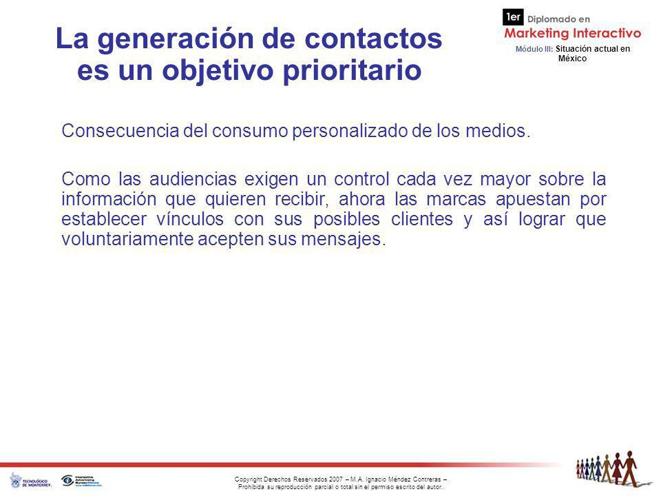 La generación de contactos es un objetivo prioritario