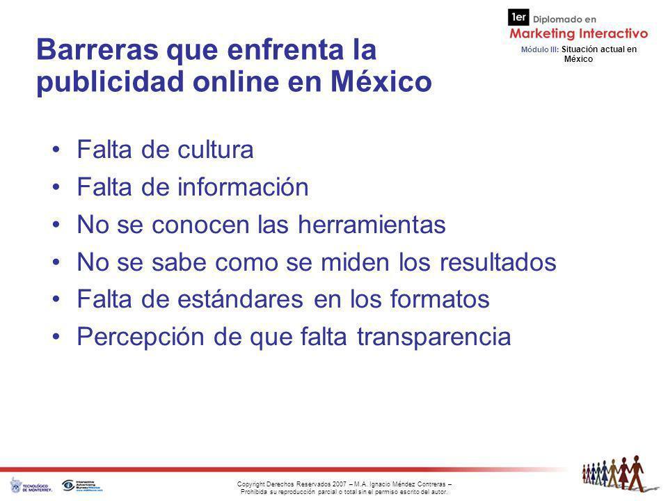 Barreras que enfrenta la publicidad online en México