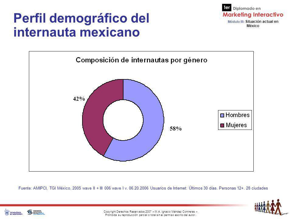 Perfil demográfico del internauta mexicano