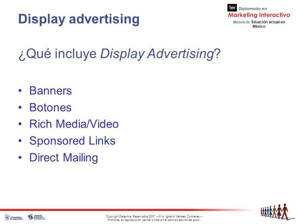 ¿Qué incluye Display Advertising