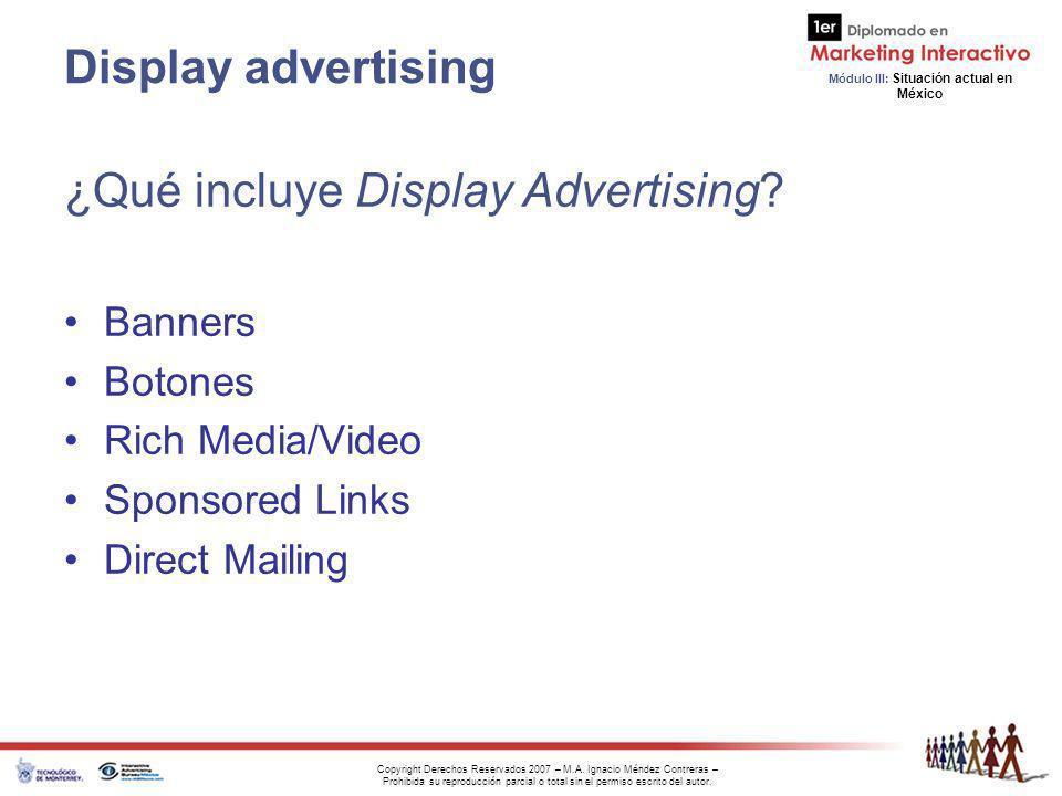 ¿Qué incluye Display Advertising