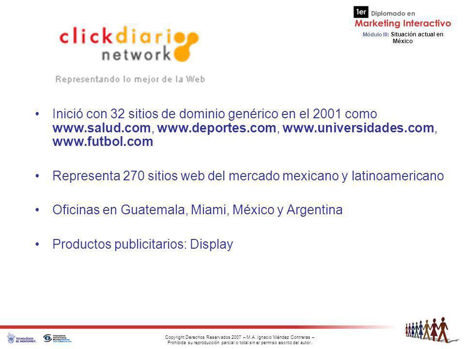 Representa 270 sitios web del mercado mexicano y latinoamericano