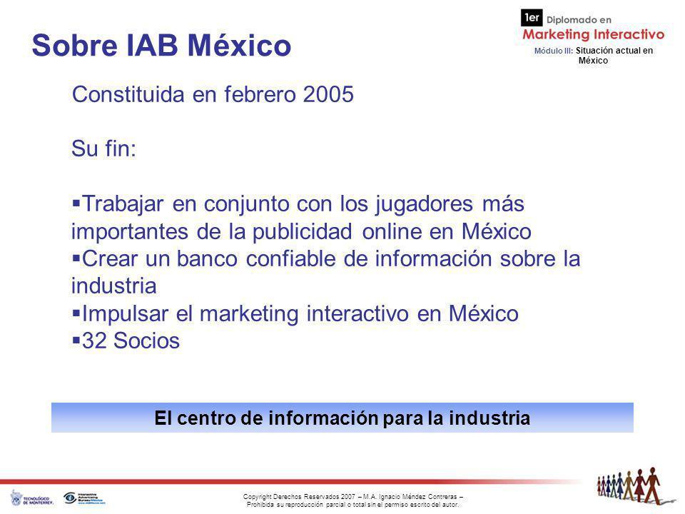 El centro de información para la industria