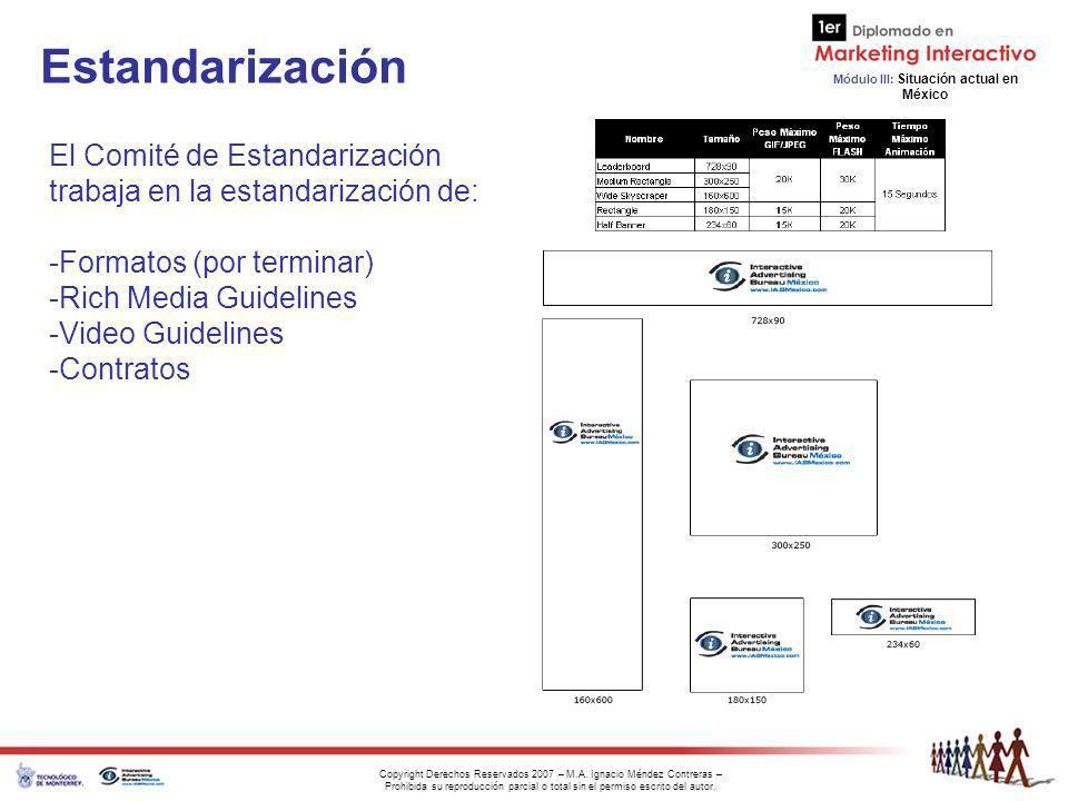 Estandarización El Comité de Estandarización trabaja en la estandarización de: Formatos (por terminar)