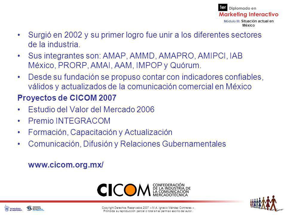 Estudio del Valor del Mercado 2006 Premio INTEGRACOM