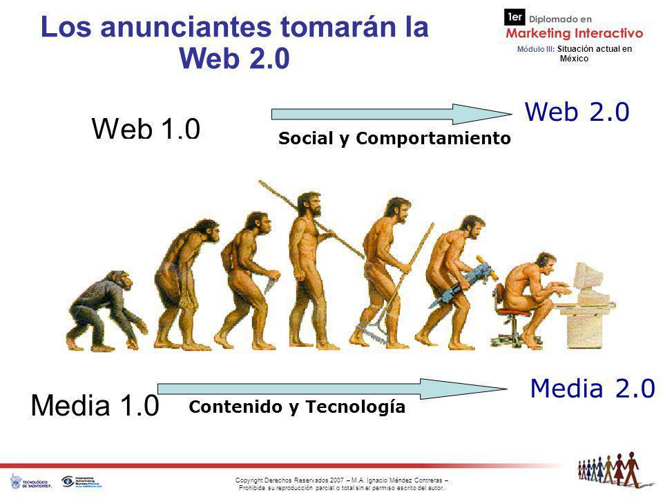 Los anunciantes tomarán la Web 2.0