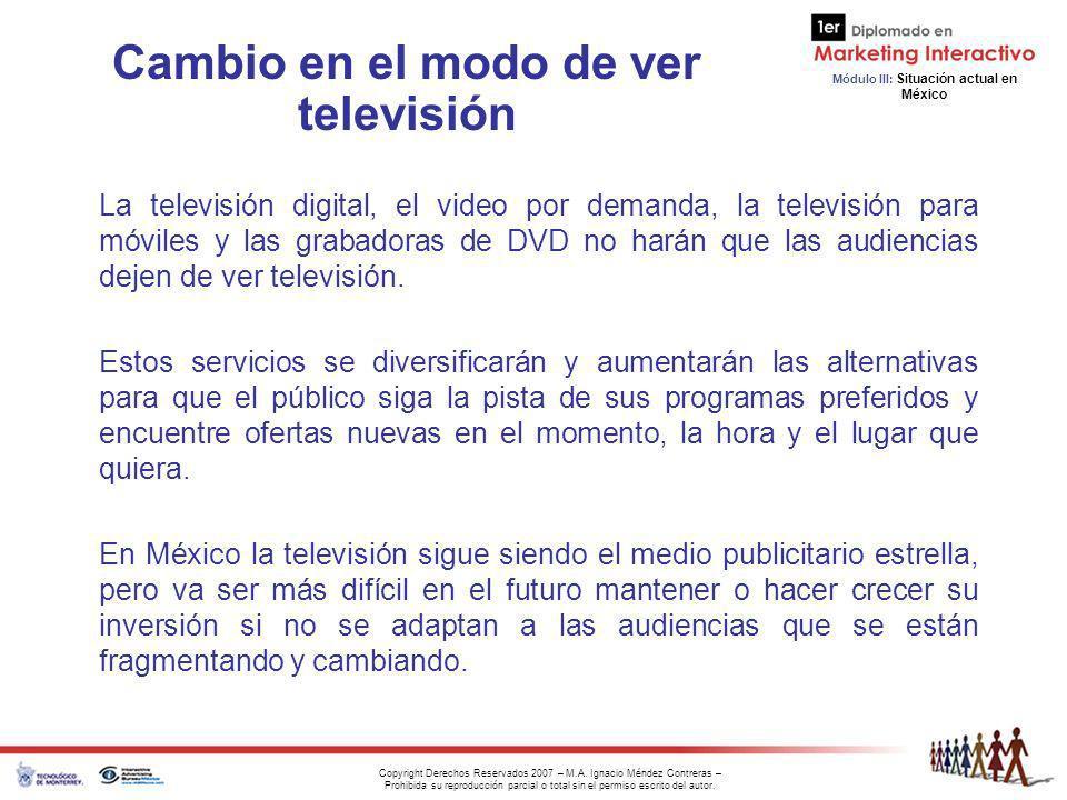 Cambio en el modo de ver televisión