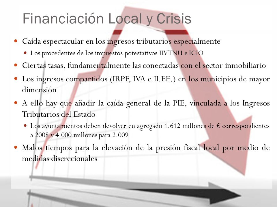Financiación Local y Crisis