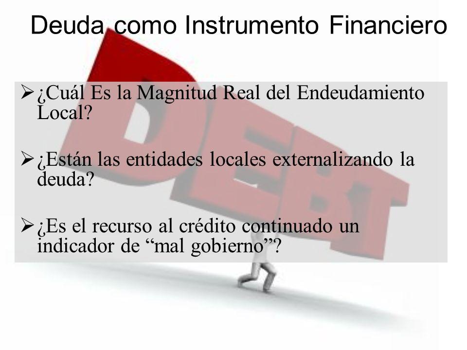 Deuda como Instrumento Financiero