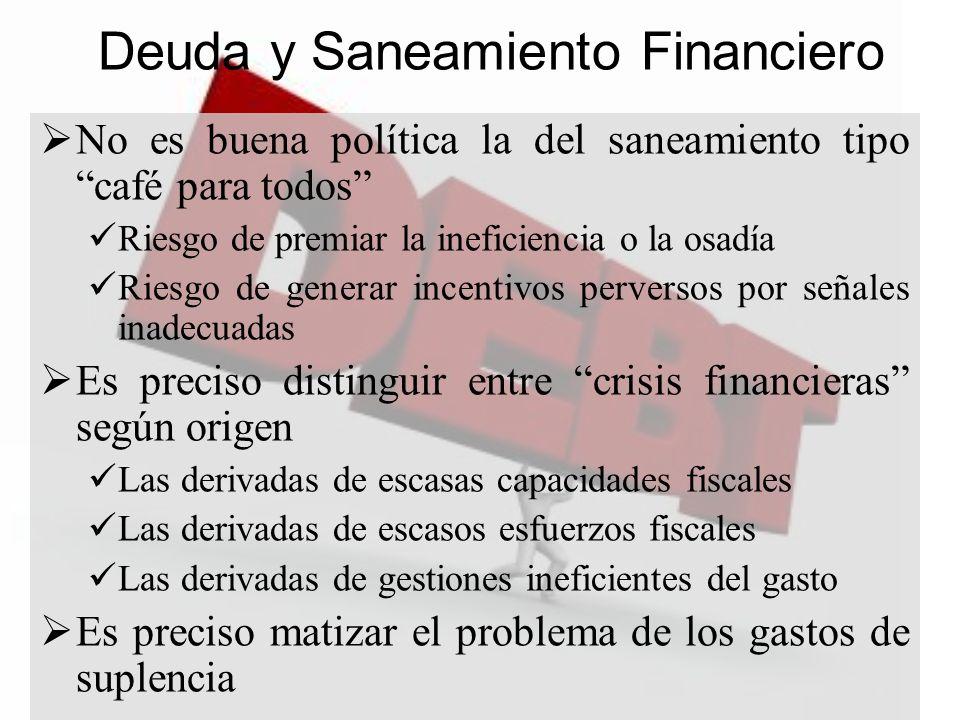 Deuda y Saneamiento Financiero