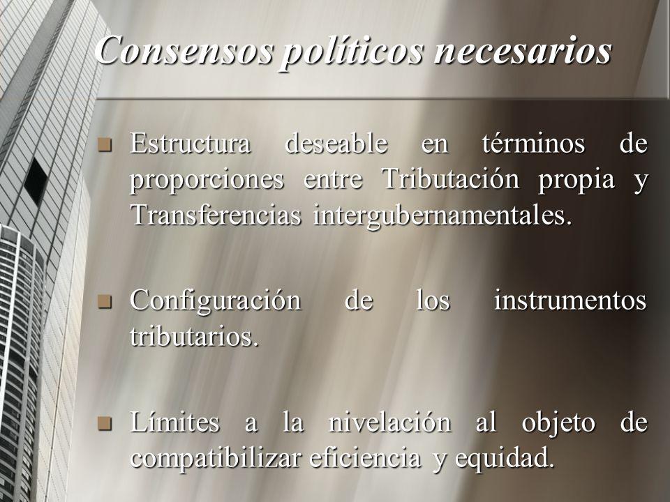 Consensos políticos necesarios