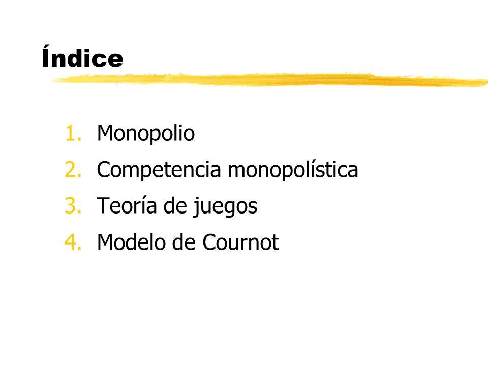Competencia monopolística Teoría de juegos Modelo de Cournot
