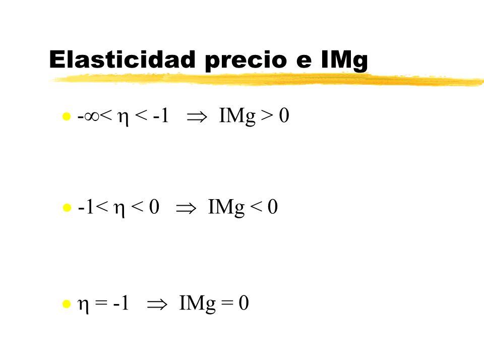 Elasticidad precio e IMg