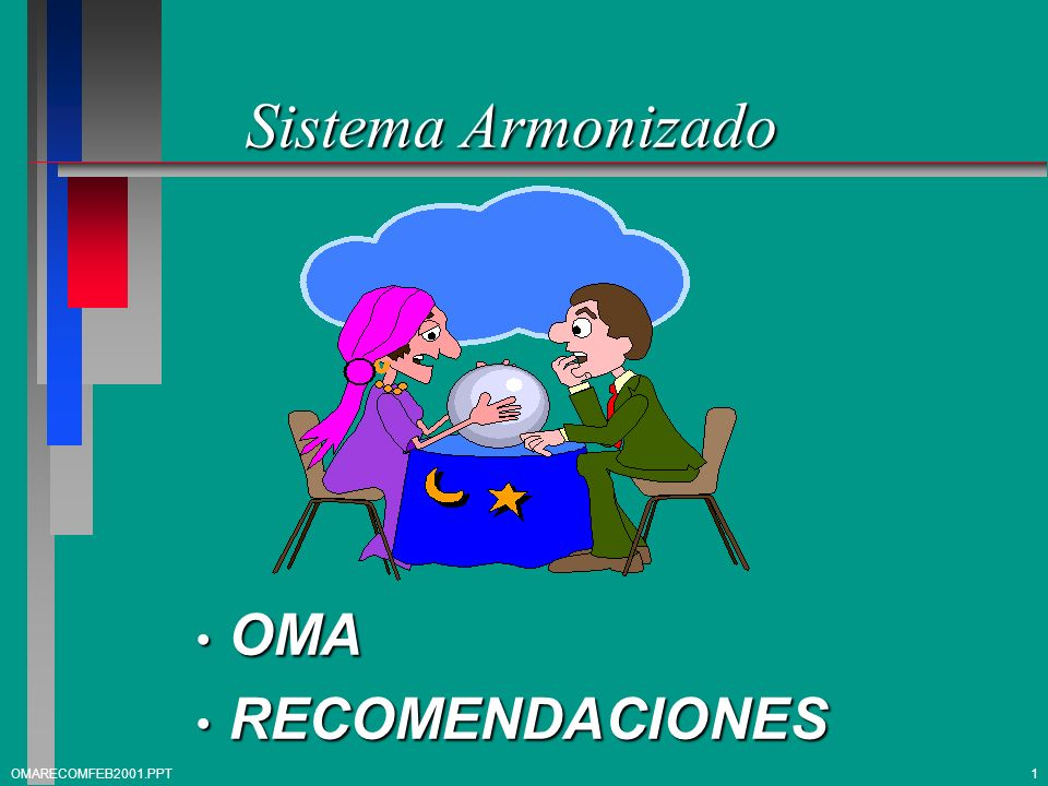 Sistema Armonizado OMA RECOMENDACIONES OMARECOMFEB2001.PPT 1