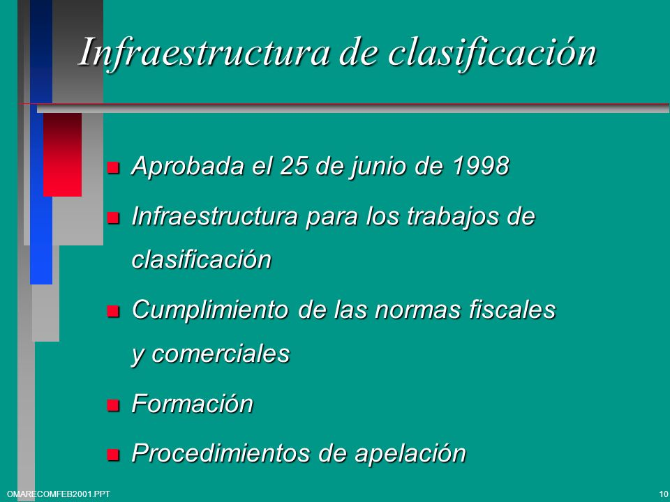Infraestructura de clasificación