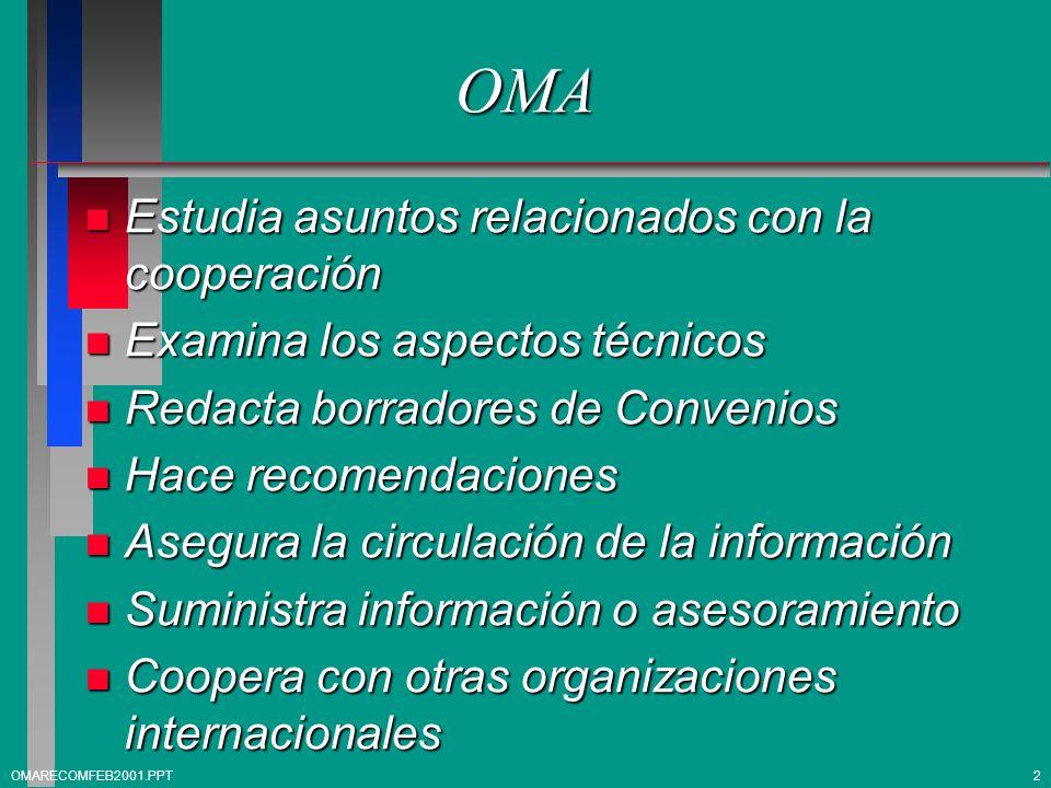OMA Estudia asuntos relacionados con la cooperación
