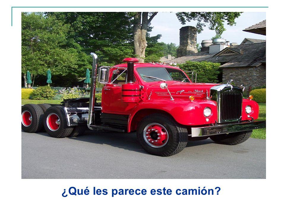¿Qué les parece este camión