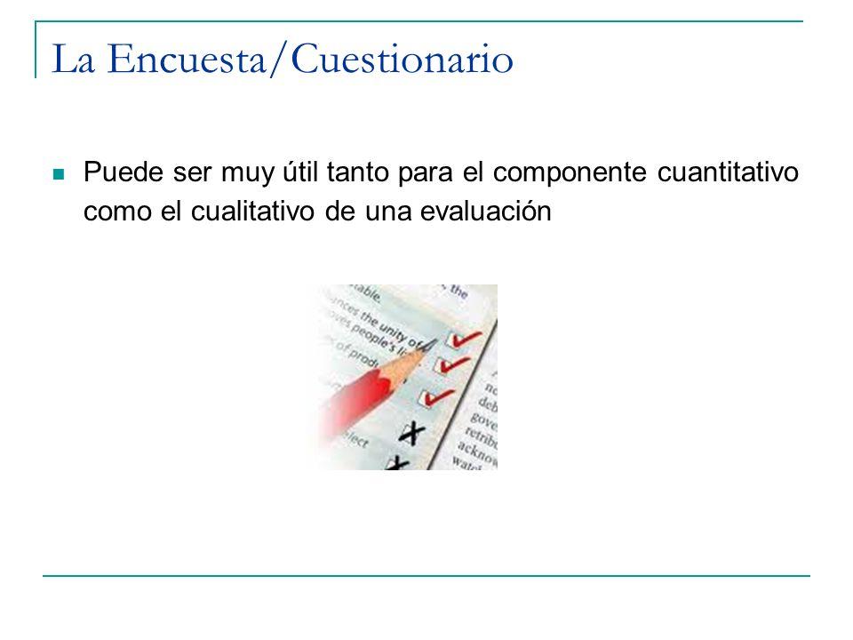 La Encuesta/Cuestionario