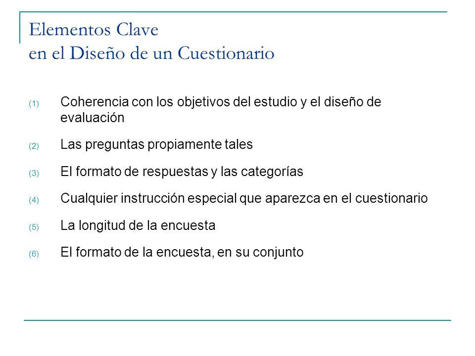 Elementos Clave en el Diseño de un Cuestionario