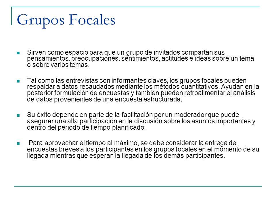 Grupos Focales