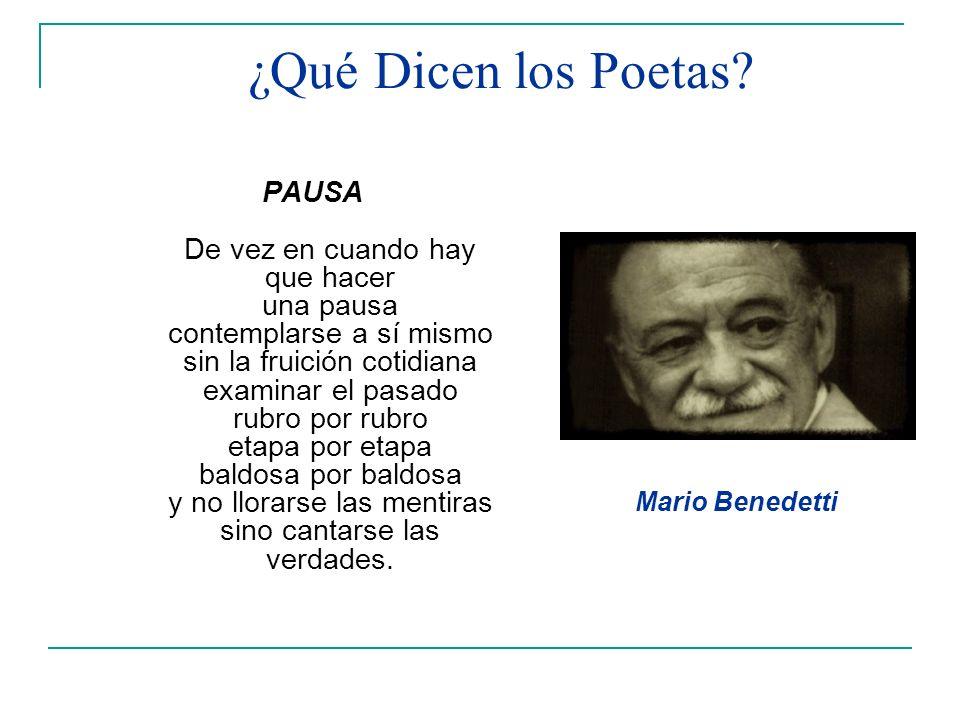 ¿Qué Dicen los Poetas