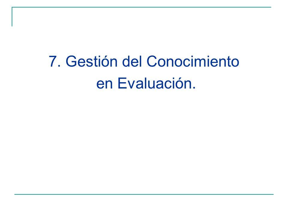 7. Gestión del Conocimiento