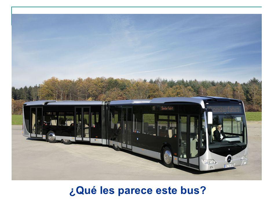 ¿Qué les parece este bus