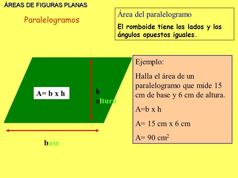 Área del paralelogramo Paralelogramos