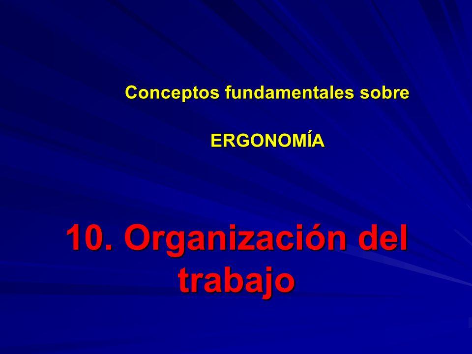 10. Organización del trabajo