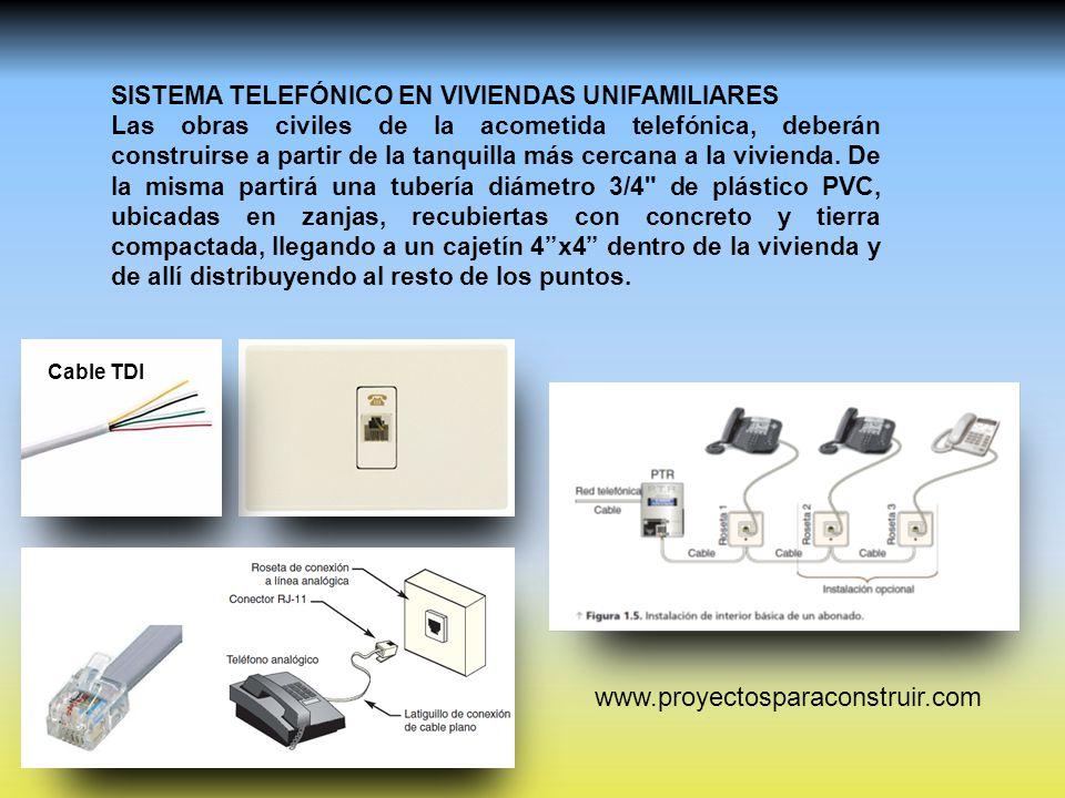 Sistema telef nico en viviendas unifamiliares ppt video for Planos de viviendas unifamiliares