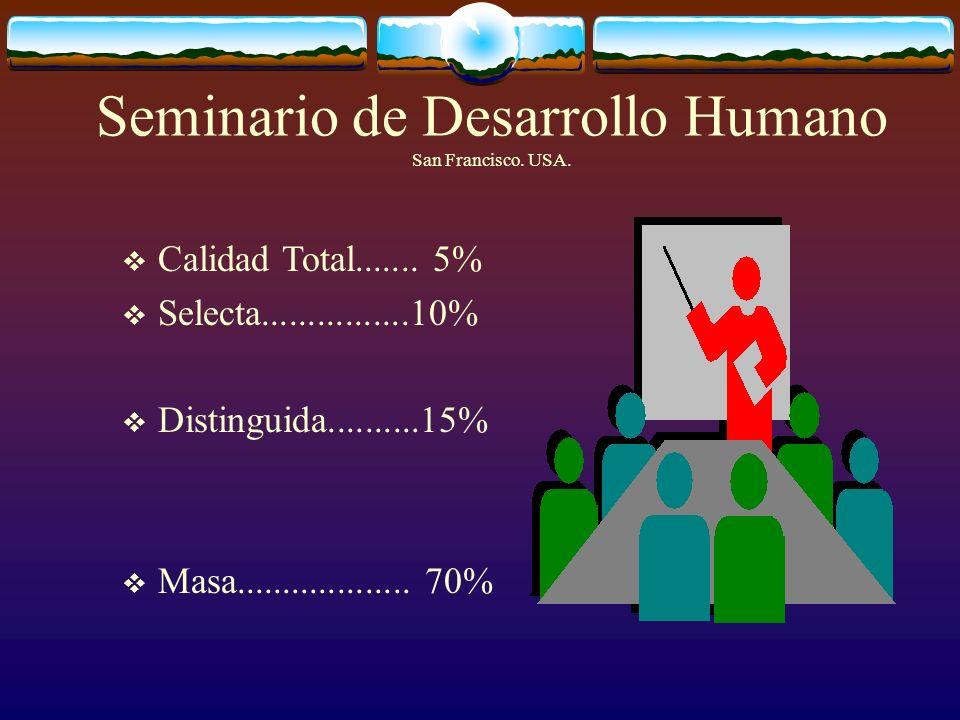 Seminario de Desarrollo Humano San Francisco. USA.