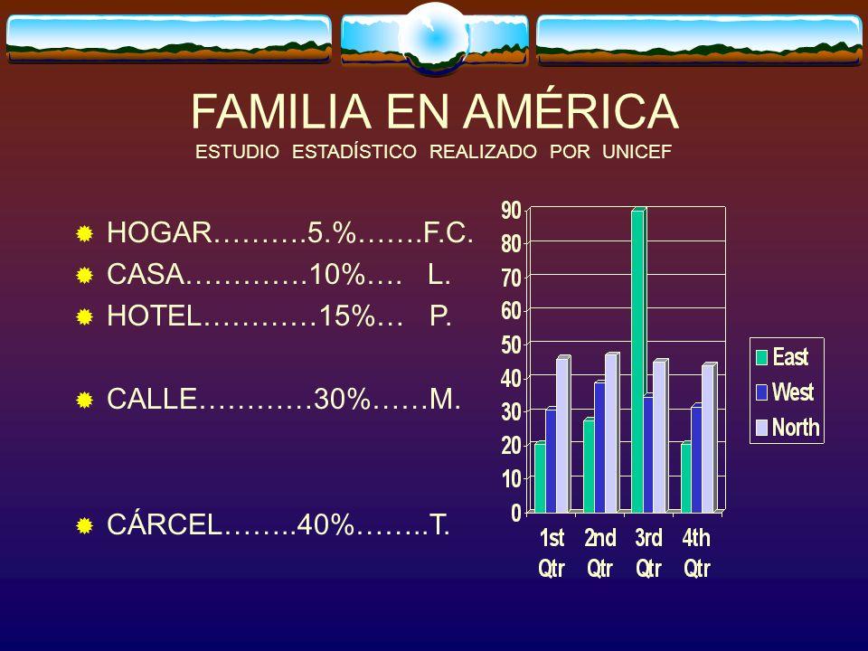 FAMILIA EN AMÉRICA ESTUDIO ESTADÍSTICO REALIZADO POR UNICEF