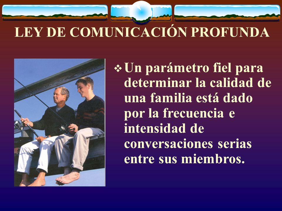LEY DE COMUNICACIÓN PROFUNDA