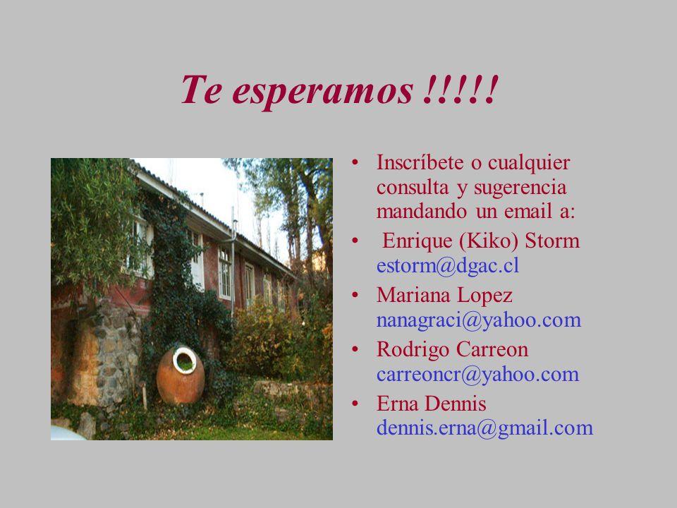 Te esperamos !!!!! Inscríbete o cualquier consulta y sugerencia mandando un email a: Enrique (Kiko) Storm estorm@dgac.cl.