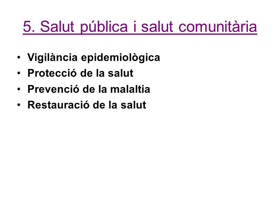 5. Salut pública i salut comunitària