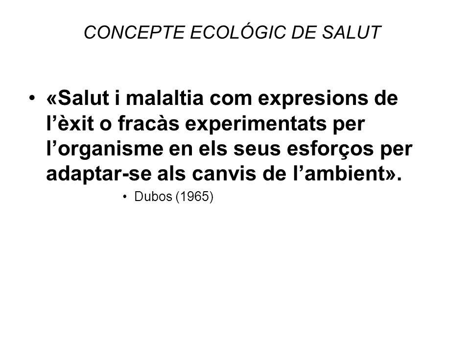 CONCEPTE ECOLÓGIC DE SALUT
