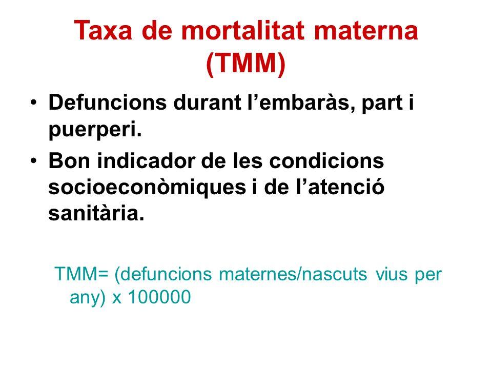 Taxa de mortalitat materna (TMM)