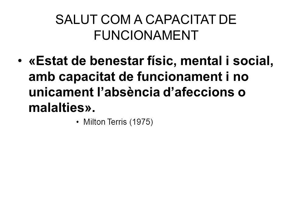 SALUT COM A CAPACITAT DE FUNCIONAMENT