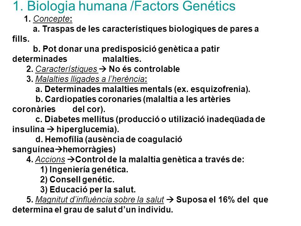 1. Biologia humana /Factors Genétics
