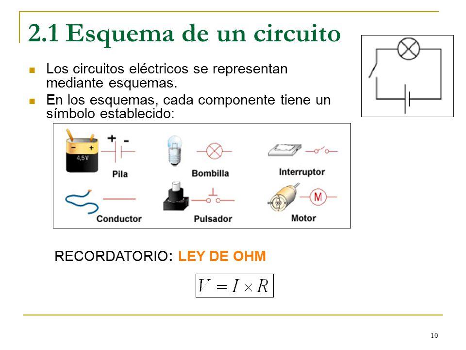 Circuito Que Tenga Un Interruptor Una Pila Y Una Bombilla : Esquemas de circuitos electricos materiales
